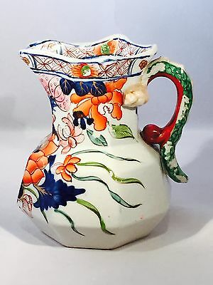 Wonderful Antique Ironstone Pitcher
