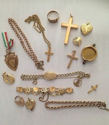 9ct Gold Job Lot (58.25g) 16 Items Updated With Items