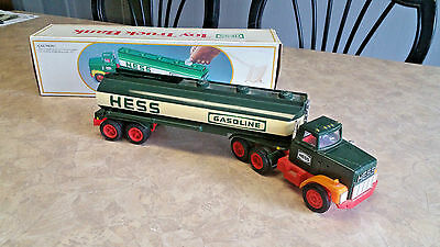 Vintage 1984 HESS Toy Truck Bank with Working Lights