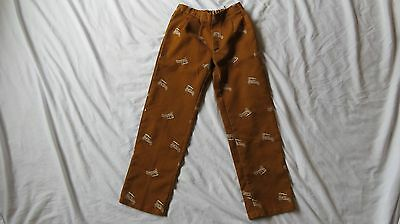 Vintage Handmade Children's Pants with Novelty Antique Car Print