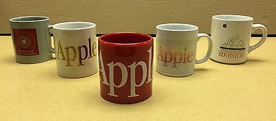 RARE COLLECTOR'S SET OF 5 DIFFERENT APPLE COMPUTER MUGS **** Vintage