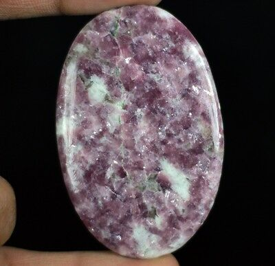107ct Natural High Grade Pink Lepidolite Oval Cabochon From Madagascar S1