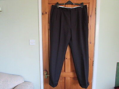 New M&S  50s / northern soul twin pleated turn up trousers  W 42 X L 33