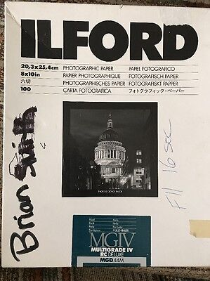 ILFORD 8x10 Multigrade IV RC Deluxe MGD 44M Pearl Paper 100 Sheets