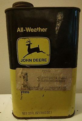 Vintage John Deere Hydrostatic Greese Motor Oil Company Can PT570