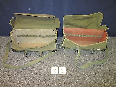 2 Army Surplus Canvas Tool Bag Semi-Rigid Olive Green Carry All 20 X 7 X 8 Used