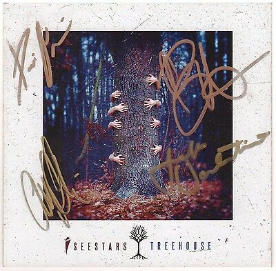 I SEE STARS Treehouse Hand Signed By All 4 Members CD Booklet+FREE Rock Stickers