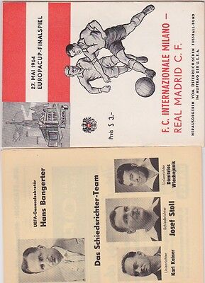 1964 European Cup Final - INTER MILAN v. REAL MADRID includes insert Excellent