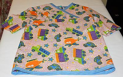Boys Summer Pajamas Size 2 T Trucks and Cars Pattern