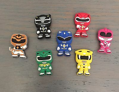 7 PC  Power Ranger Like JIBBITZ SHOE CHARMS NEW- US Seller