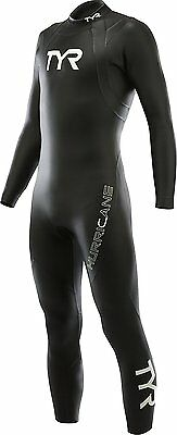 TYR Men's Hurricane Cat 1 Wetsuit-M/L-Black-Triathlon-Swimming