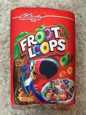 Large General Mills Froot Loops Pillow Cereal Silky Micro Beads Stuffed Plush