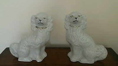Pair of Staffordshire Mantel Dogs