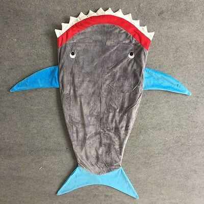 NWT shark minky fish mermaid blanket one size - received as gift