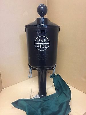 Par Aide Single Master Golf Ball Washer Cleaner Mirror Black Powder Coated Nice