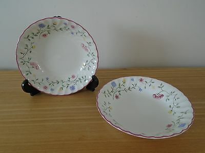 2 Johnson Brothers Summer Chintz 19cm Fluted Bowls