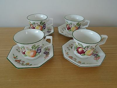 4 Johnson Brothers Fresh Fruit Cups & Saucers
