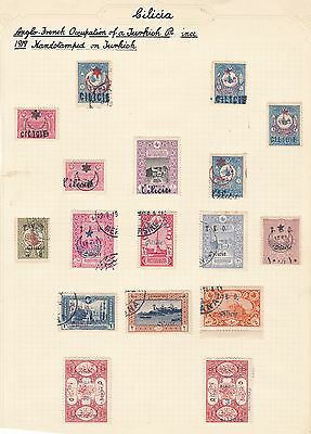 Cilesia Overprinted Stamps Of France And Turkey Collection, Used & Unused