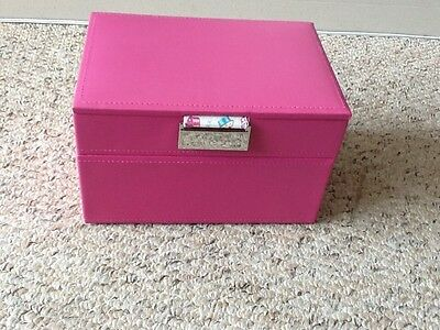 Jewellery box stackers - 2 tier, pink with cupcake lining