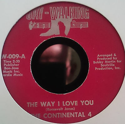 The Continental 4 The way I love you - Jay Walking - Northern Soul