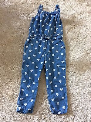 Baby Girls Blue Heart Jumpsuit Playsuit All in One 9-12 Months Young Dimension