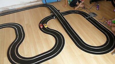 scalextric digital Lane Change track set with extension pieces.