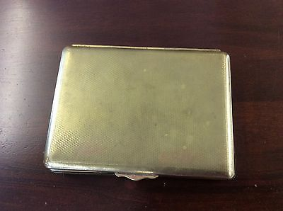 Vintage brass State express wood lined cigarette box