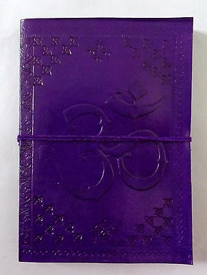 Purple Classic Vintage  Real Leather  Journal Handmade Notebook  Diary