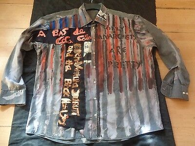 SEDITIONARIES ONLY ANARCHISTS ARE PRETTY STRIPPY vintage look SHIRT  SEX PISTOLS