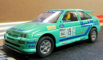 Vintage Scalextric Ford Escort Cosworth 'hendy' In Good Condition (C403).