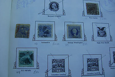 United States of America postage stamps 19th Century used