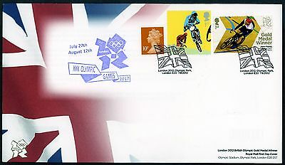 Fdc 2012 Jason Kenny Cycling Gold Medal First Day Cover London Olympic Games