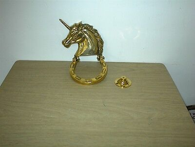 Vintage Unicorn Brass Door Knocker