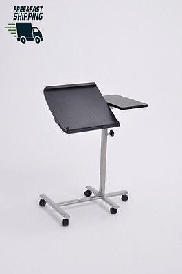Adjustable Mobile Cart Stand Laptop Computer Tilted Rolling Table with Wheels