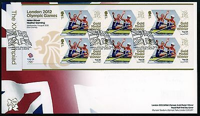 Fdc 2012 Glover Stanning  Gold Medal First Day Cover London Olympic Games