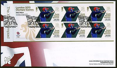 Fdc 2012 Peter Wilson Gold Medal First Day Cover London Olympic Games