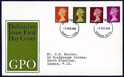 1968 First Day Cover Definitive 1968 Windsor Cds