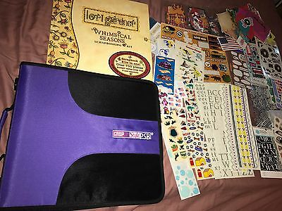 Crop in Style D-Ring Binder PSB Plus 35 pages of Stickers BR4 Huge Lot Scrapbook