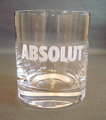 Absolut Vodka Glass Tumbler Pub Home Bar Used