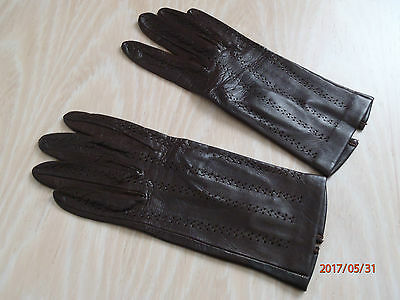 Pair of brown leather gloves Size 7 (small)