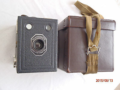 "Vintage Six-20 ""Hawkeye"" Camera and case"