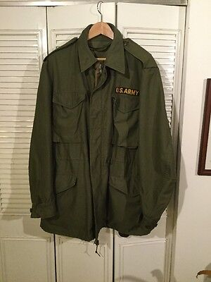 1956 Korea War M-51 US Army OG-107 Field Jacket Sz Long-Medium Excellent cond