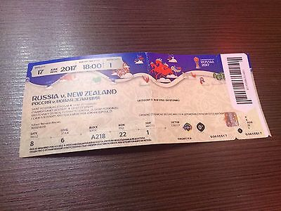 Used Ticket Confedcup 2017 #1 Russia New Zealand Russland Neuseeland