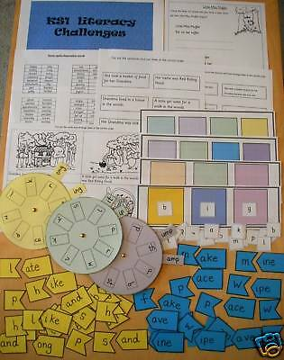 English KS1 teacher resources SPAG activities games school LITERACY CD