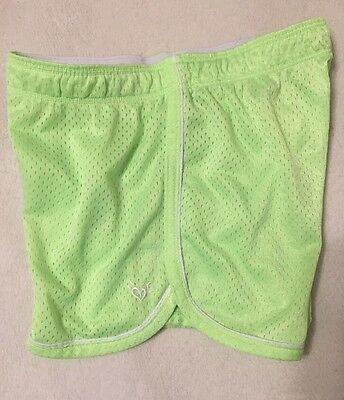 Justice Girls Size 10 Mesh Athletic Shorts Lime Green
