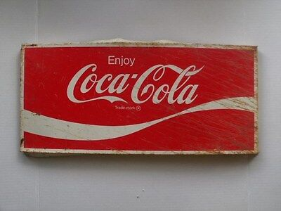 "Nice Pressed Metal 22"" X 10"" Enjoy Coca-Cola Advertising Sign coke vintage soda"