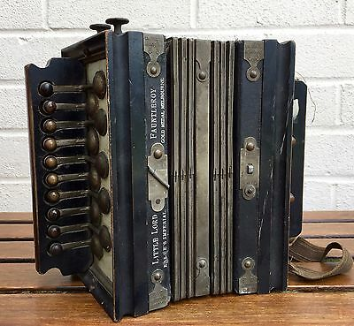 Antique -Kalbes Imperial Little Lord Fauntleroy- Accordion Squeeze Box 1890-1915