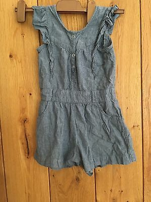 Monsoon Playsuit Jumpsuit - Girls Age 5 - 6 years GOOD CONDITION Denim Blue
