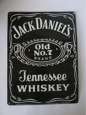 Jack Daniel's Black Label Tin Sign whiskey advertising bar man cave