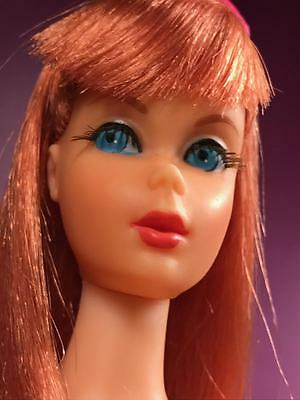 Vtg 1967 Titian Redhead Twist N Turn Barbie #1162 Doll w/ Orig. Pink Ribbon Bow